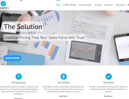Profit2 Web Redesign